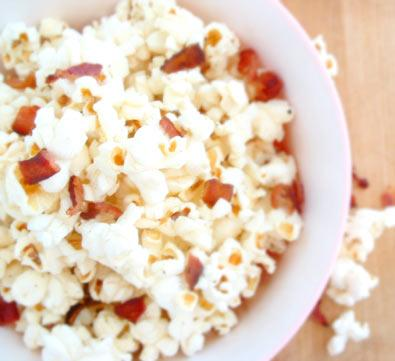 Fire up the DVD player…it's Bacon Popcorn time!