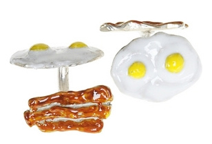 Bacon & Eggs Cufflinks