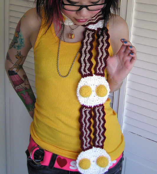 Free Crochet Pattern Bacon Scarf : Bacon Crochet - Royal Bacon Society