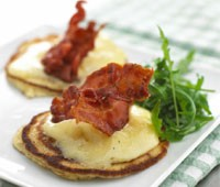 Potato Pancakes with Cheese and Bacon