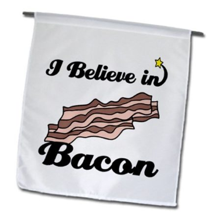 3dRose-fl1047531-I-Believe-in-Bacon-Garden-Flag-12-by-18-Inch-0