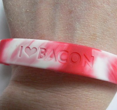 5-PACK-Bacon-Love-Wristband-I-Heart-Bacon-Silicone-Wrist-Band-Rubber-Bracelet-0-0