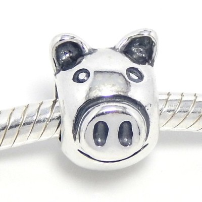 925-Sterling-Silver-Pig-Face-Charm-Bead-for-Snake-Chain-Charm-Bracelets-0