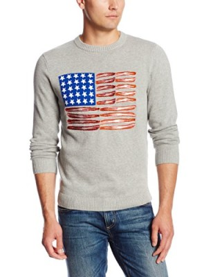 Alex-Stevens-Mens-Red-White-and-Bacon-Flag-Crew-Neck-Light-Grey-Heather-XX-Large-0