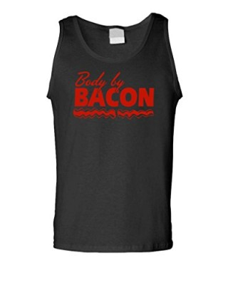 BODY-BY-BACON-Mens-Tank-Top-M-Black-0