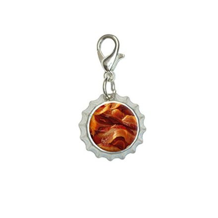 Bacon-Bracelet-Pendant-Zipper-Pull-Bottlecap-Charm-with-Lobster-Clasp-0
