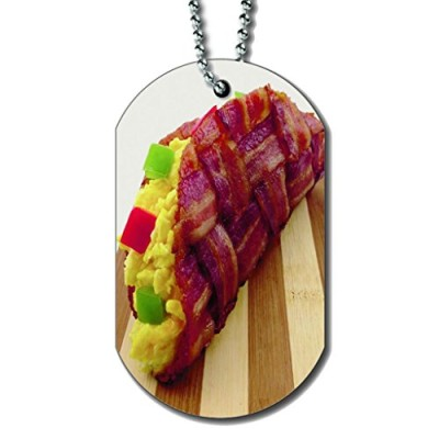 Bacon-Breakfast-Taco-Dog-Tag-Necklace-0