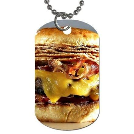 Bacon-Cheeseburger-Dog-Tag-with-30-chain-necklace-Great-Gift-Idea-0