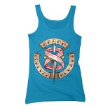 Bacon-Forever-Always-Womens-Large-Turquoise-Graphic-Tank-Top-0