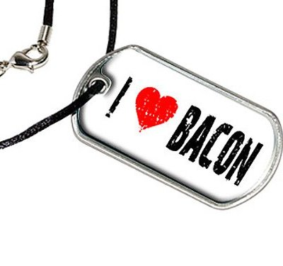 Bacon-Love-Military-Dog-Tag-Black-Cord-Necklace-0