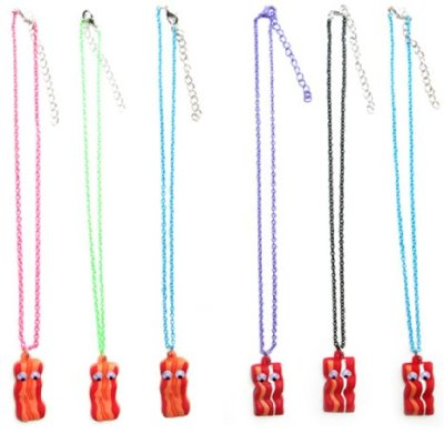 Bacon-Necklace-w-Google-Eyes-Color-Cable-Chain-Assorted-0