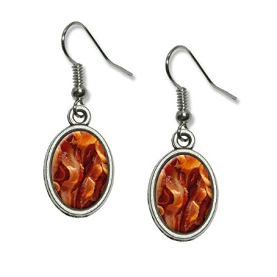 Bacon-Novelty-Dangling-Drop-Oval-Charm-Earrings-0