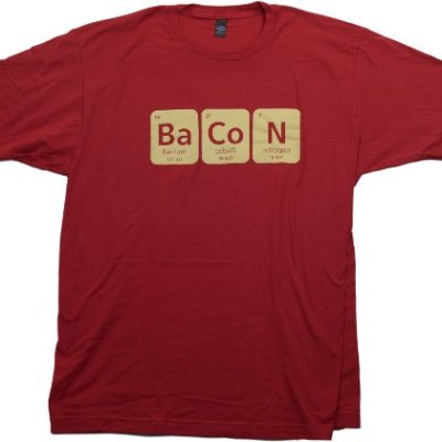 Bacon-Periodic-Table-Funny-Nerd-Bacon-Lover-Unisex-T-shirt-L-0
