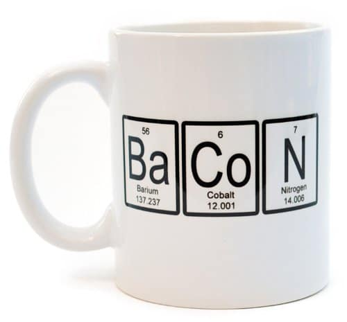 Bacon Periodic Table Of Elements Coffee Or Tea Mug Royal Bacon Society