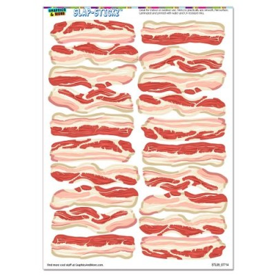 Bacon-Strips-of-Awesomeness-Food-SLAP-STICKZTM-Party-Scrapbook-Craft-Car-Window-Locker-Stickers-0