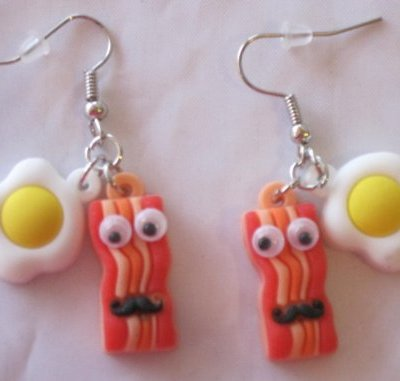Bacon-and-Eggs-Googly-Eyes-and-Mustache-Dangle-Earrings-Breakfast-Food-0