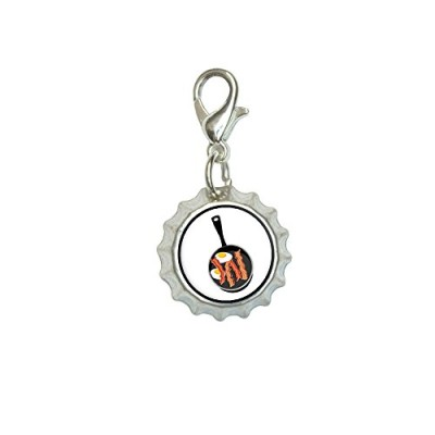Bacon-and-Eggs-White-Breakfast-Bracelet-Pendant-Zipper-Pull-Bottlecap-Charm-with-Lobster-Clasp-0