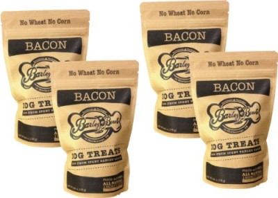 Barley-Bones-Craft-Dog-Treats-Organic-Made-in-USA-Bone-Shape-Snack-6oz-Pouch-for-Large-and-Small-Dogs-even-Aggressive-Chewers-Bacon-4-x-6oz-Bags-0