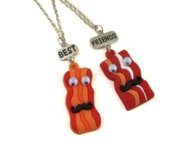 Best-Friends-Bacon-Pendants-Necklaces-on-Silver-Chain-Necklaces-0