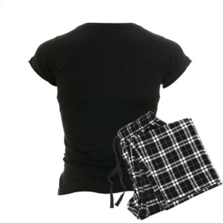 CafePress-Bacon-Mustache-Womens-Dark-Pajamas-Womens-Dark-Pajamas-M-With-Checker-Pant-0-0