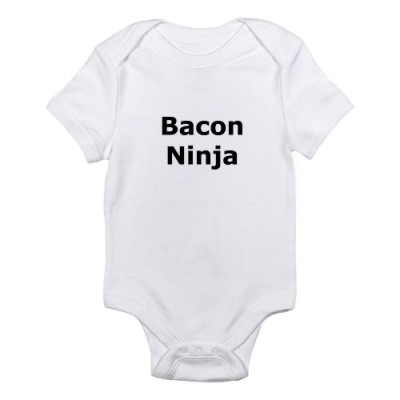 CafePress-Bacon-Ninja-Infant-Bodysuit-3-6M-Cloud-White-0