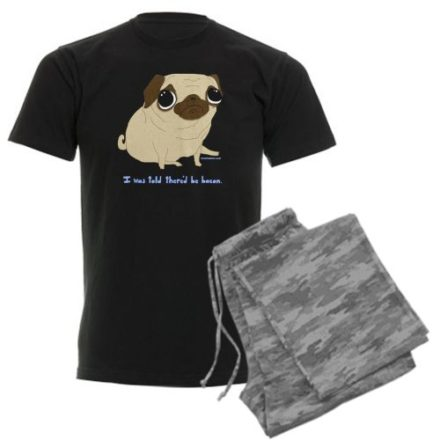 CafePress-Bacon-Pug-Mens-Dark-Pajamas-Mens-Dark-Pajamas-XL-With-Grey-Camo-Pant-0