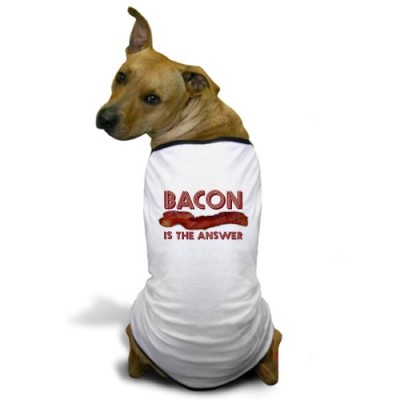 CafePress-Bacon-is-the-Answer-Dog-T-Shirt-XL-White-Misc-0