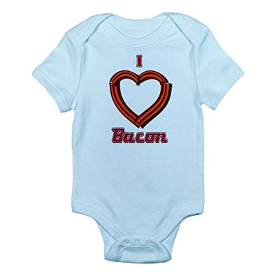 CafePress-I-Heart-Bacon-Infant-Bodysuit-6-12M-Sky-Blue-0