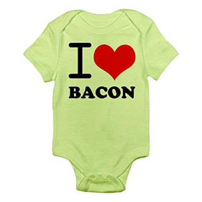CafePress-I-Love-Bacon-Infant-Bodysuit-6-12M-Kiwi-0