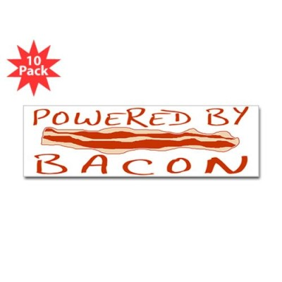 CafePress-Powered-By-Bacon-Sticker-Bumper-10-pk-Standard-0