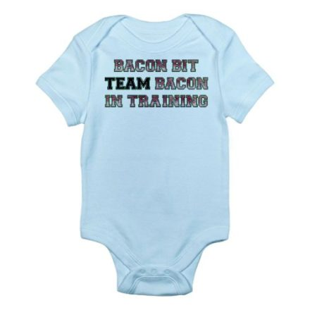 CafePress-Team-Bacon-Bacon-Bit-Infant-Bodysuit-0-3M-Sky-Blue-0