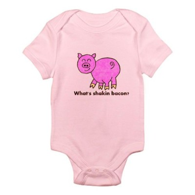 CafePress-Whats-shakin-bacon-Infant-Bodysuit-6-12M-Petal-Pink-0