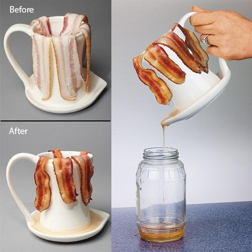 Ceramic Bacon Cooker Cup Microwave