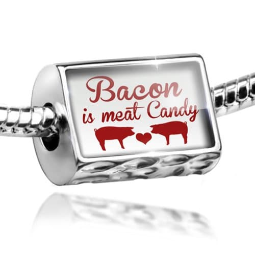 Charm-Bacon-is-meat-Candy-Bead-Fit-All-European-Bracelets-Neonblond-0