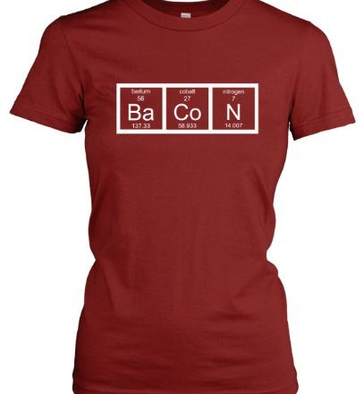 Chemistry-Bacon-T-Shirt-Funny-Periodic-Table-Tee-For-Women-S-0