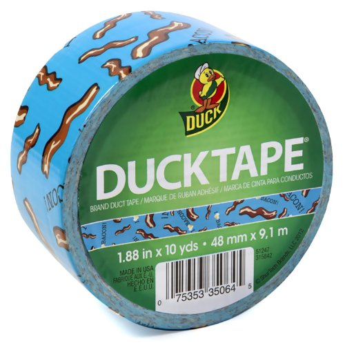Duck-Brand-281731-Bacon-Printed-Duct-Tape-188-Inches-x-10-Yards-Single-Roll-0