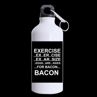 Eggs-Are-Sides-For-Bacon-Aluminum-Sports-Water-Bottle-Sports-Mugs-135-Ounces-White-One-Side-Print-0