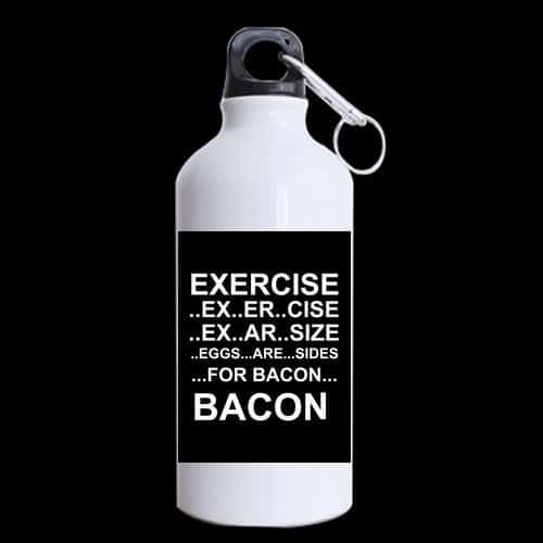 Eggs Are Sides For Bacon Aluminum Sports Water Bottle