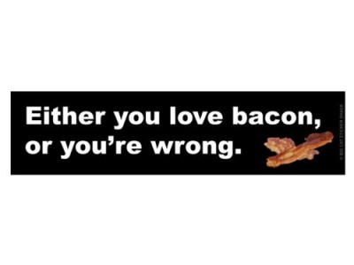 Either-you-love-bacon-or-youre-wrong-Bumper-Sticker-0