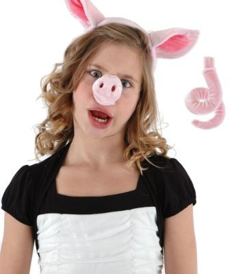 Elope-Pig-Nose-Ear-Tail-Set-Pink-One-Size-0