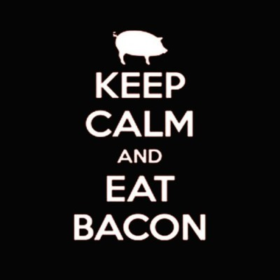 Fair-Game-Keep-Calm-and-Eat-Bacon-pig-Funny-Tank-Top-Black-Adult-Small-0-0