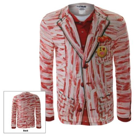 Faux-Real-Mens-Bacon-Suit-Costume-Long-Sleeve-Large-Multi-0
