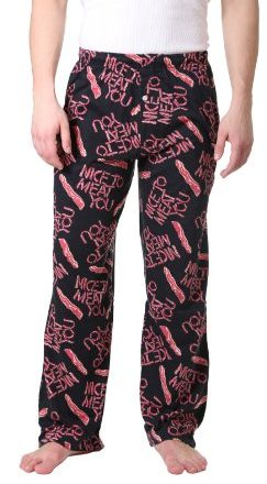 Fun-Boxers-Mens-Nice-to-Meat-You-Pajama-Pants-Small-Black-0