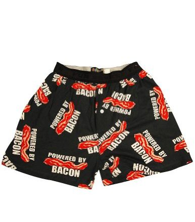 Fun-Boxers-Mens-Powered-By-Bacon-Boxer-Shorts-Black-34424-Small-0