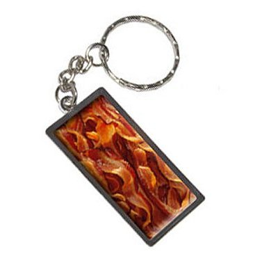 Graphics-and-More-Bacon-Keychain-Ring-K1753-0