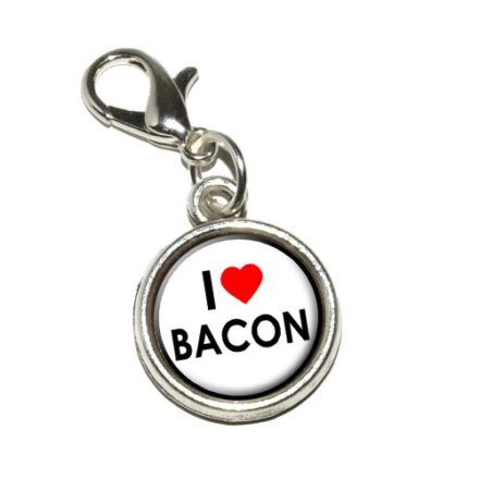 Graphics-and-More-I-Love-Heart-Bacon-Antiqued-Bracelet-Pendant-Zipper-Pull-Charm-with-Lobster-Clasp-0