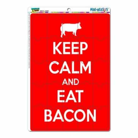 Graphics-and-More-Keep-Calm-and-Eat-Bacon-Red-Mag-Neatos-Novelty-Gift-Locker-Refrigerator-Vinyl-Puzzle-Magnet-Set-0
