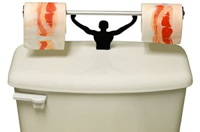 Greasy-Bacon-Toilet-Paper-W-Strong-Man-Holder-Novelty-Gift-Set-0