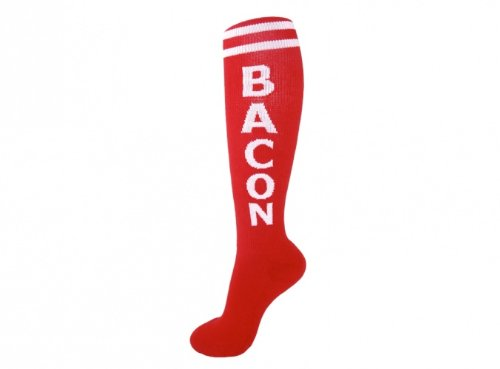 Gumball-Poodle-Bacon-Unisex-Knee-High-Red-Socks-One-Size-0