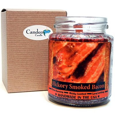 Hickory-Smoked-Bacon-Wood-Wick-Candle-8-oz-Super-Scented-Natural-Wax-Candle-Burning-Wood-Fireplace-Candle-0